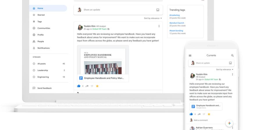 La nuova app di Currents di Google è la sua modifica aziendale per Google+ – The Verg
