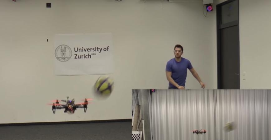 Apprezzare un drone auto-sostenendo schivare, anatra, tuffo, tuffarsi e schivare un pallone da calcio – The Verg