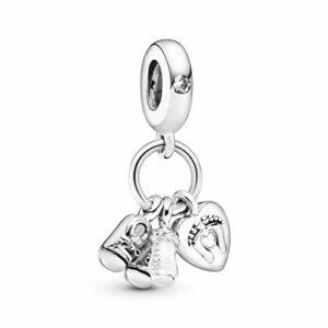 Bead Charm 798106CZ di Pandora è un ciondolo in argento Sterling 925 e smalto bianco. Si abbina a qualsiasi bracciale Pandora.
