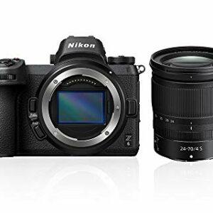 Nikon Z6 + NIKKOR Z 24-70 F/4 S Fotocamera Mirrorless Full Frame, CMOS FX da 24.5 MP, 273 Punti AF, Mirino OLED
