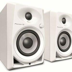 """Pioneer DM-40-W White Coppia Monitor attivi a 2 vie 4""""/0,75"""" 21 watt, Bianco"""
