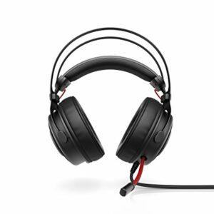 HP Omen 800 Cuffia Gaming con Microfono Regolabile e Retrattile, Rivestita in Pelle